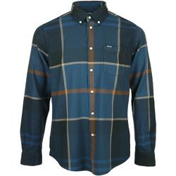 Kleidung Herren Langärmelige Hemden Barbour Dunoon Tailored Shirt Blau