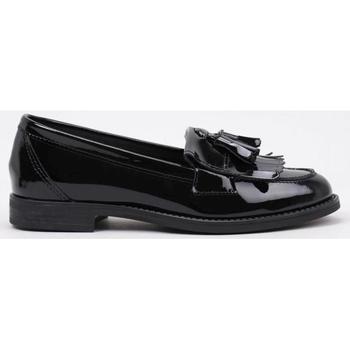 Schuhe Damen Slipper Krack  Schwarz