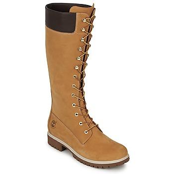 Schuhe Damen Klassische Stiefel Timberland WOMEN'S PREMIUM 14IN WP BOOT Cognac