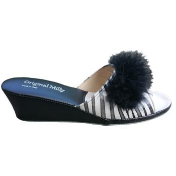 Schuhe Damen Pantoffel Milly MILLY102zebner nero