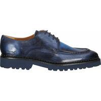 Schuhe Herren Derby-Schuhe Melvin & Hamilton Halbschuhe Blau/Grau