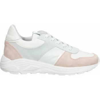 Schuhe Damen Sneaker Low Steven New York Sneaker Weiß/Rosa