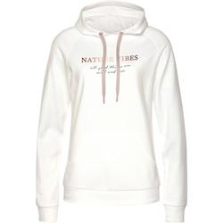 Kleidung Damen Sweatshirts Lascana Loungewear-Kapuzenpullover Gelb