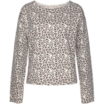 Kleidung Damen Sweatshirts Lascana Loungewear-Sweatshirt Flieder
