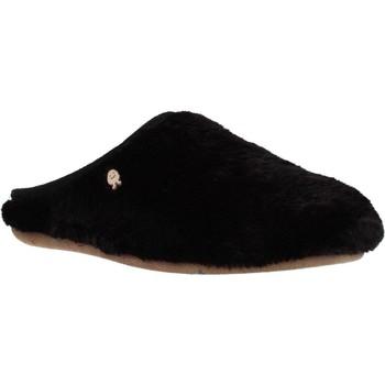 Schuhe Damen Hausschuhe Hot Potatoes 60903G Schwarz