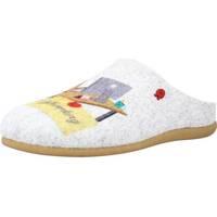 Schuhe Damen Hausschuhe Hot Potatoes 64634G Grau