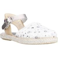 Schuhe Mädchen Leinen-Pantoletten mit gefloch Conguitos LVS14543 Silber