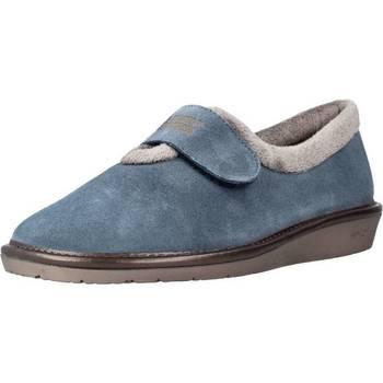Schuhe Damen Hausschuhe Nordikas 6348N Blau