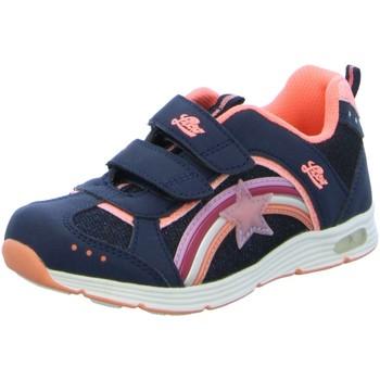 Schuhe Mädchen Sneaker Brütting Klettschuhe Rainbow V Blinky 300223 blau