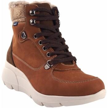 Schuhe Damen Multisportschuhe Baerchi Damenstiefelette  55203 Leder Braun