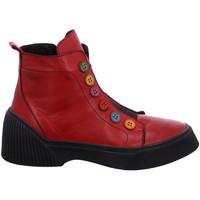 Schuhe Damen Boots Gemini Stiefeletten Stiefelette 033100 02 506 rot