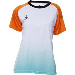 Kleidung Damen T-Shirts Select T-shirt femme  Player Femina orange/blanc/vert