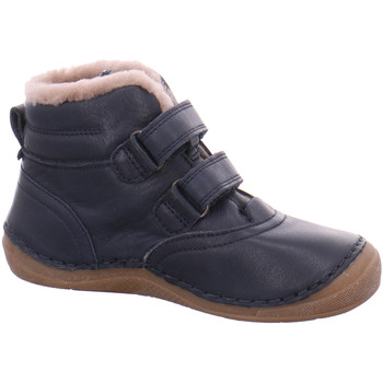 Schuhe Jungen Boots Froddo Klettstiefel Paix blue Lammfell Klett G2110100-4 blau