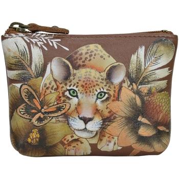 Taschen Damen Kosmetiktasche Anuschka 1031 Cleopatra's Lepard Tan - Handbemalt Leder parent