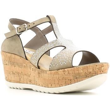 Schuhe Damen Sandalen / Sandaletten Keys 5457 Braun