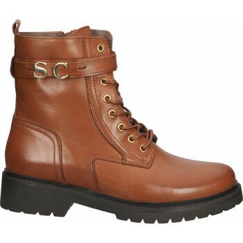 Schuhe Damen Boots Scapa Stiefelette Braun