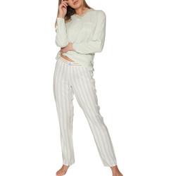 Kleidung Damen Pyjamas/ Nachthemden Admas Pyjama tenue d'intérieur haut et pantalon longs Classic Dunkelgrün