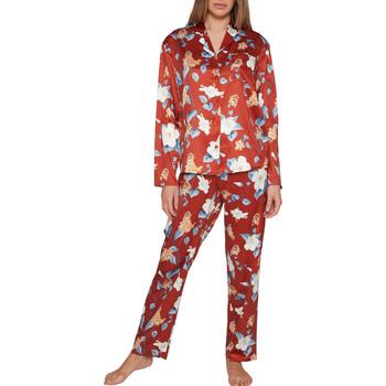 Kleidung Damen Pyjamas/ Nachthemden Admas Pyjama tenue d'intérieur pantalon chemise Winter Garden Sand