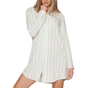 Kleidung Damen Pyjamas/ Nachthemden Admas Chemise de nuit manches longues Classic Stripes Dunkelgrün