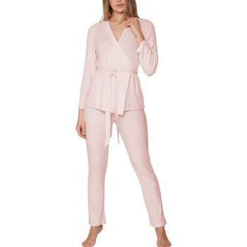 Kleidung Damen Pyjamas/ Nachthemden Admas Pyjama tenue d'intérieur pantalon top croisé Elegant Line Zartrosa