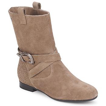 Schuhe Damen Boots Couleur Pourpre TAMA Maulwurf