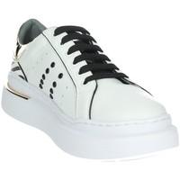 Schuhe Damen Sneaker Low Keys K-5580 Weiss/Gold