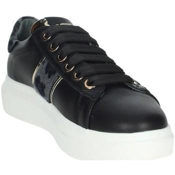 Schuhe Damen Sneaker Low Keys K-5502 Schwarz/Grau