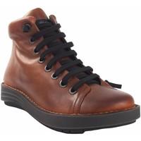 Schuhe Damen Sneaker High Chacal Lady  Stiefel  5623 Leder Braun
