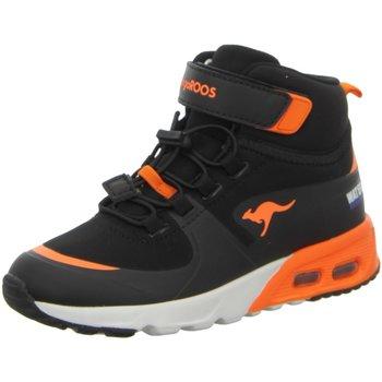 Schuhe Jungen Sneaker High Kangaroos High KX-Hydro,jet black/neon orange 18598-5075 Other