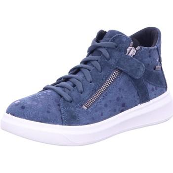 Schuhe Mädchen Sneaker High Superfit Schnuerschuhe 1-006451-8000 blau