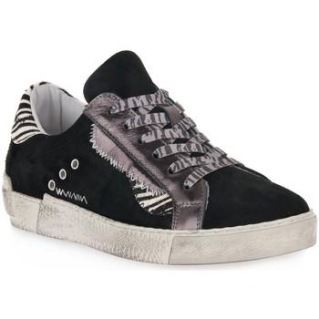 Schuhe Damen Sneaker Low At Go GO 4102 VELOUR NERO Nero