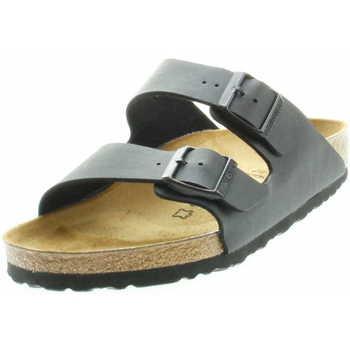 Schuhe Damen Pantoffel Birkenstock Classic 551253 Arizona Unisex Tieffuss-Pantolette  Schwarz Schwarz