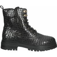 Schuhe Damen Boots Bullboxer Stiefelette Schwarz