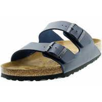 Schuhe Damen Pantoffel Birkenstock Classic 051063 Arizona Unisex Tieffuss-Pantolette Dunkelblau Blau