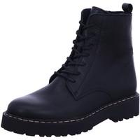Schuhe Damen Stiefel Online Shoes Stiefeletten Schnürboot Schnürung Boots Schwarz Neu F-8280-03 schwarz