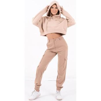 Kleidung Damen Sweatshirts Sixth June Sweatshirt Crop Top femme  Acid Printed beige