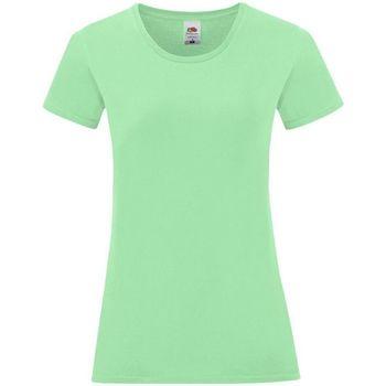 Kleidung Damen T-Shirts & Poloshirts Fruit Of The Loom 61432 Grün