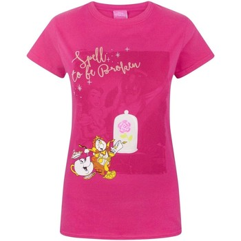 Kleidung Damen T-Shirts Beauty And The Beast  Pink