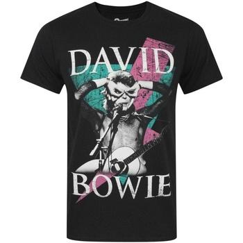 Kleidung Herren T-Shirts David Bowie  Schwarz