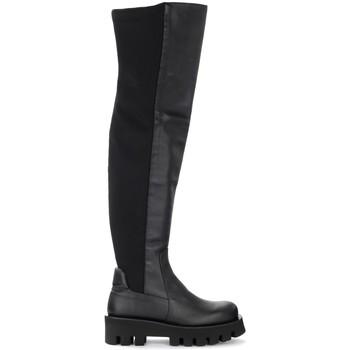 Schuhe Damen Klassische Stiefel PALOMA BARCELÓ Stivale Paloma Barcelò Agneta in pelle e neoprene nero Schwarz