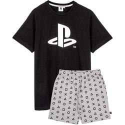 Kleidung Herren Pyjamas/ Nachthemden Playstation  Schwarz/Grau