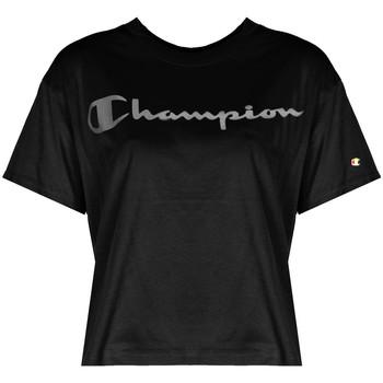 Kleidung Damen T-Shirts Champion  Schwarz