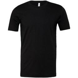 Kleidung T-Shirts Bella + Canvas CVC3001 Schwarz meliert