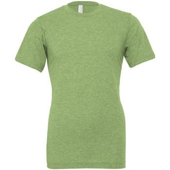 Kleidung T-Shirts Bella + Canvas CVC3001 Grün meliert