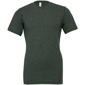 Kleidung T-Shirts Bella + Canvas CVC3001 Dunkelgrün meliert