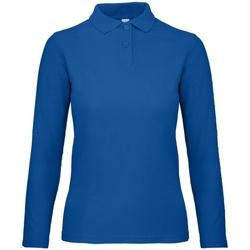 Kleidung Damen Langärmelige Polohemden B And C PWI13 Blau