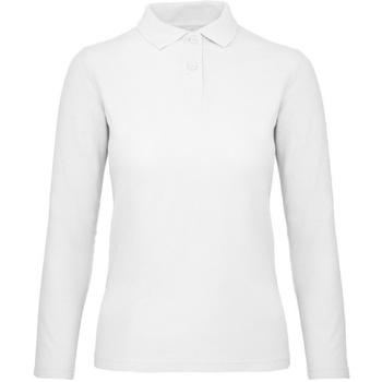 Kleidung Damen Langärmelige Polohemden B And C PWI13 Schnee