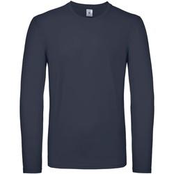 Kleidung Herren Langarmshirts B And C TU05T Marineblau