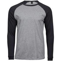 Kleidung Herren Langarmshirts Tee Jays T5072 Grau meliert/Schwarz