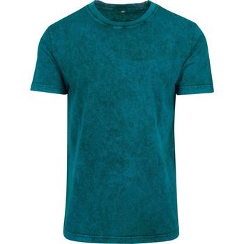 Kleidung Herren T-Shirts Build Your Brand BY070 Petrol/Schwarz